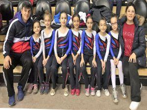 Sanko Okullarının Minik Kızları Jimnastikte İl İkincisi Oldu