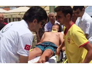 Parasailingin halatı koptu, yolcu çocuğun bacağı kırıldı