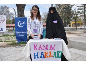 Uşak'ta kadın haklarıyla ilgili farkındalık oluşturmak amaçlı proje gerçekleştirildi