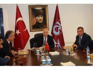 Borsa Başkanları Trabzonspor'u ziyaret etti
