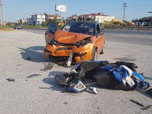 Manavgat'taki kaza kameralara yansıdı