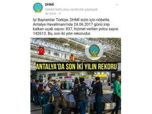 Antalya Havalimanı'nda rekor