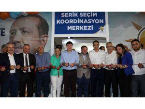 Ak Parti Serik Koordinasyon Merkezi'ni Türel açtı