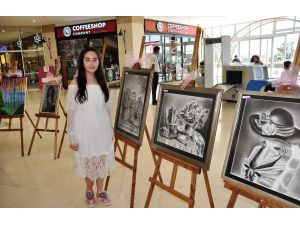14 yaşındaki ressamdan sergi
