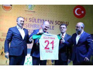 Atik'ten Bakan Soylu'ya Diyarbekir forması
