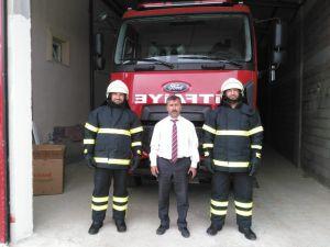 İtfaiye personeline yanmaz elbise