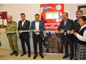 Erciş'te açılan ay yıldızlı kütüphaneye şehidin adı verildi