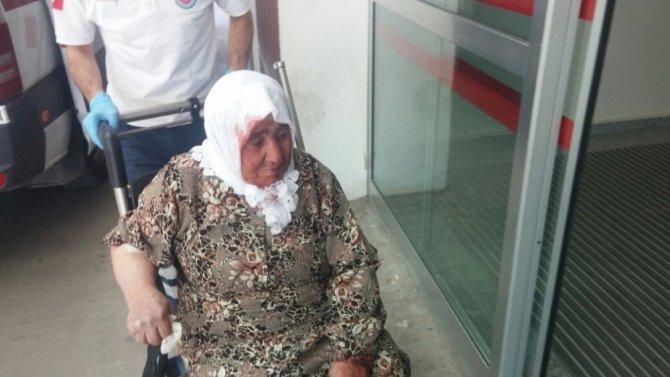 Yaşlı kadın damdan düştü