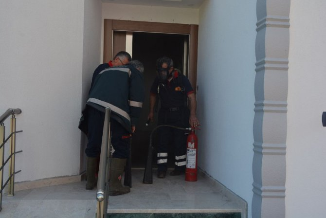 Sinop'ta elektrik panosunda yangın