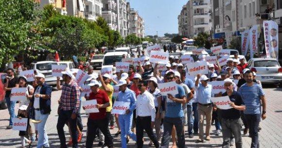 CHP'den Demre'de adalet yürüyüşü