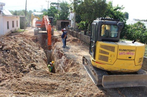 Asat'tan Kanalizasyon Çalışması