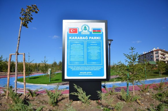 Karabağ Parkına anlamlı tabela