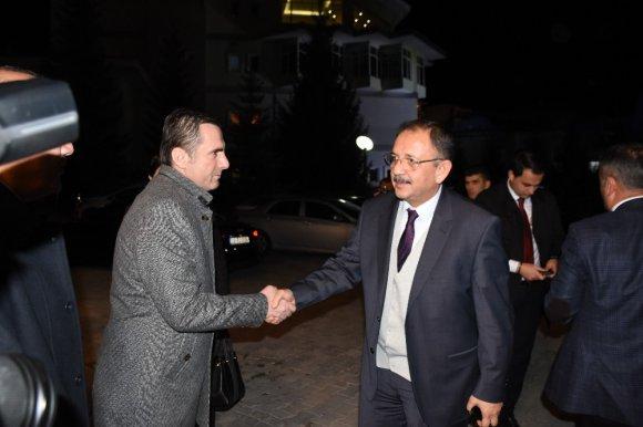 Çevre ve Şehircilik Bakanı Özhaseki Kızılcahamam'a geldi