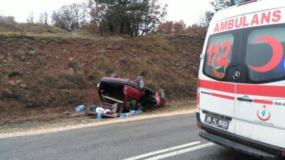 Ankara'da trafik kazası: 2 yaralı