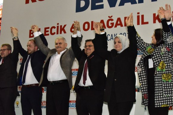 Ak Parti Bilecik İl Başkanlığı Seçimleri Başbakan Binali Yıldırım'ın Katılımıyla Gerçekleştirildi