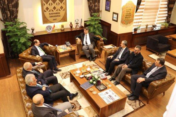 Kardemir Aş. Yönetim Kurulu Başkanı Öz'den Rektör Polat'a İade-i Ziyaret
