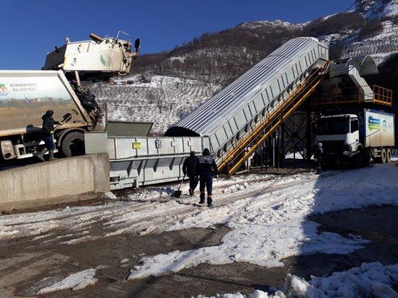 Gölköy ve Kabataş'a çöp aktarma istasyonları hazır