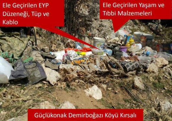 Şırnak'ta 14 Terörist Mağarası Ve Barınak İmha Edildi