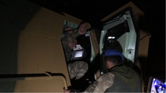 Afrin'e Giden Komandolar Nurdağı'nda Türk Bayraklarıyla Karşılandı