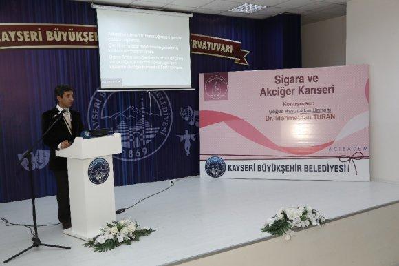Büyükşehir Sağlık Seminerlerinde 'Sigara' Konuşuldu