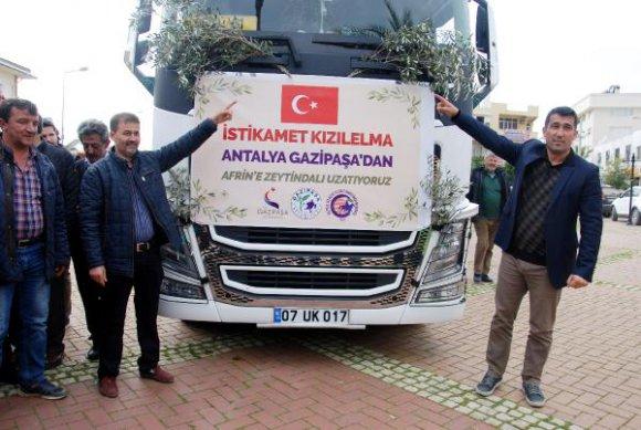 Gazipaşa'dan Mehmetçik için 26 tonluk sebze- meyve