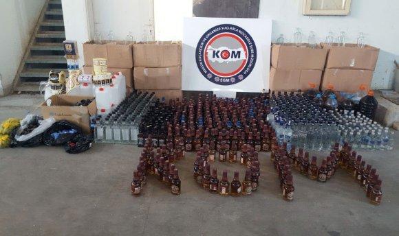 Sahte İçki İmalatı Yapılan Eve Şok Operasyon