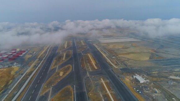 Yüzde 78'i Tamamlanan 3'üncü Havalimanı İnşaatı Havadan Görüntülendi