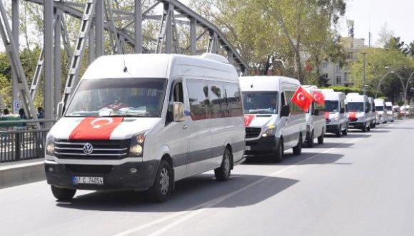 Manavgat'ta Mehmetçiğe destek konvoyu