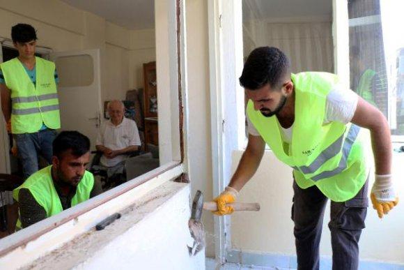 Engelli evleri engelsiz oluyor