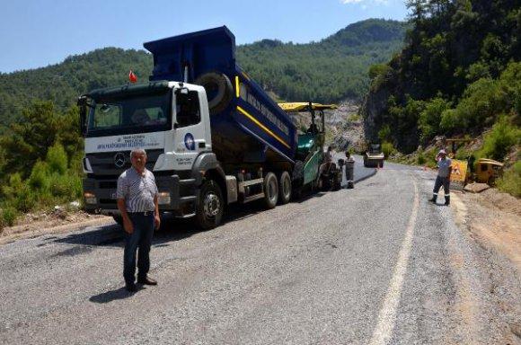 Dim Vadisi'ne sıcak asfalt