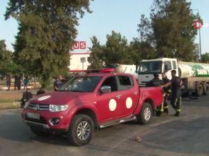 Antalya'da LPG tankerindeki yangın kontrol altına alındı