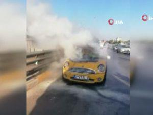 6 bin liraya yaptırılan otomobil 5inci kilometrede yandı