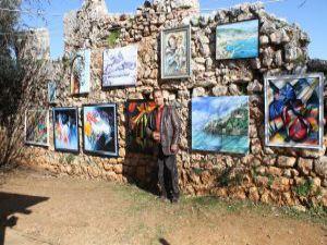 Ünlü ressam Azerbaycan ve Türkiye dostluğunu tuvaline yansıttı