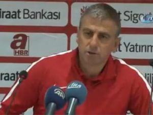 """Hamzaoğlu: """"Rakip haklı galibiyet aldı"""""""