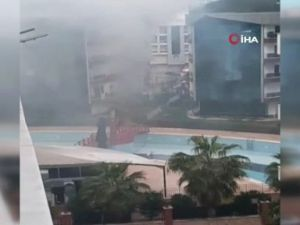 Antalya'da rezidans yangını