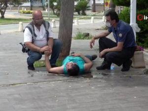Polis, düşüp başını kaldırma çarpan genç için seferber oldu
