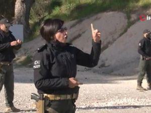 Kadın polislerin  nefes kesen eğitim