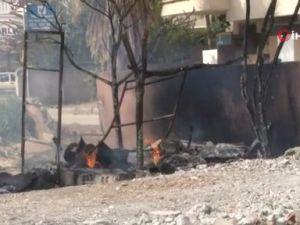 Emniyet Müdürlüğü karşısındaki yangın polisi alarma geçirdi