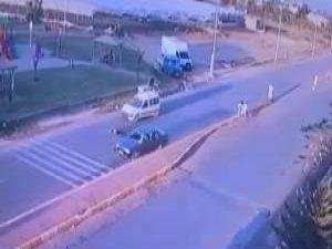 İki aracın bisikletli çocuğa arka arkaya çarpıp ölümüne sebep olduğu feci kaza