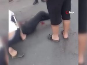 Kayınbiraderini bıçaklayan enişteye vatandaştan dayak