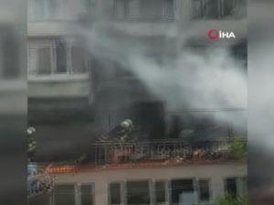 Antalya'da ev yangın